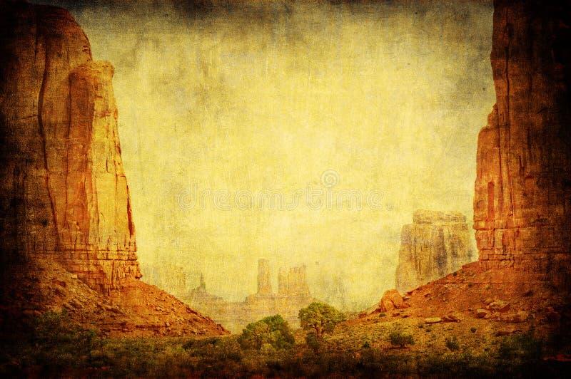 Grunge Bild der Denkmal-Tallandschaft lizenzfreies stockbild