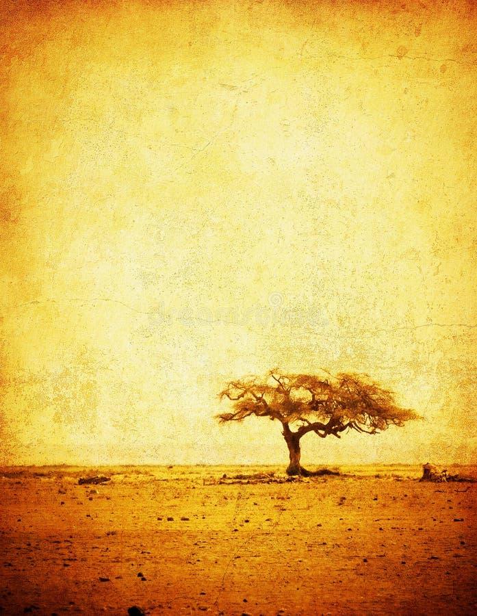 Download Grunge Bild Eines Baums Auf Einem Weinlesepapier Stockbild - Bild von grunge, leuchte: 9082231