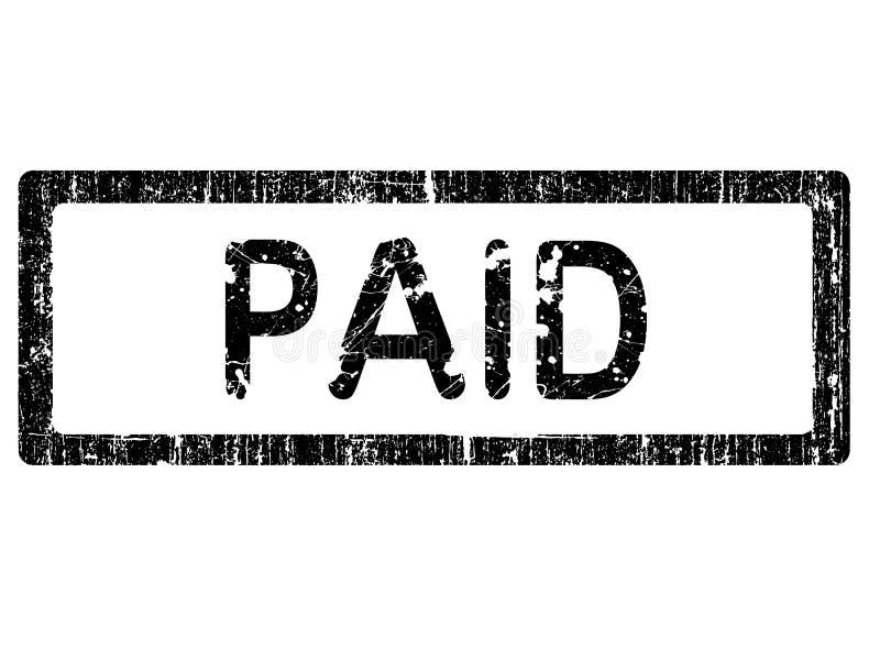 grunge biura płacone pieczęć ilustracja wektor
