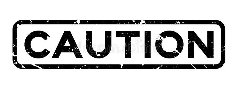 Grunge black caution word square rubber stamp on white background. Grunge black caution word square rubber seal stamp on white background vector illustration