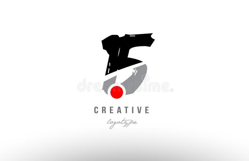 15 grunge black grey number logo icon design. Design of number 15 with grunge style. Black grey color suitable as a logo for a company or business vector illustration
