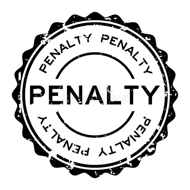 Grunge black penalty word round rubber stamp on white background. Grunge black penalty word round rubber seal stamp on white background stock illustration