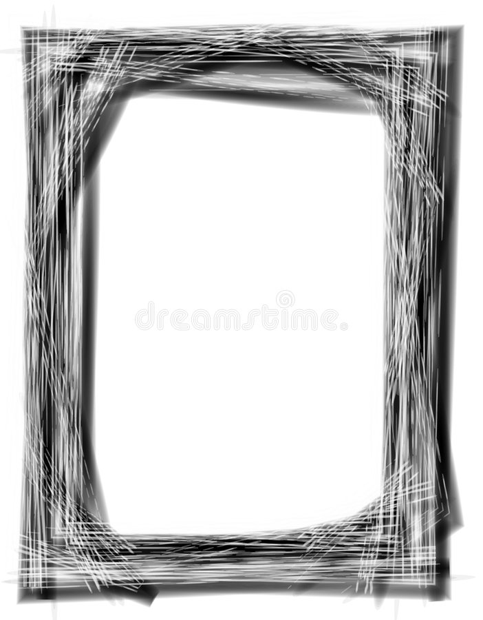 Grunge Black Picture Frame royalty free stock photography
