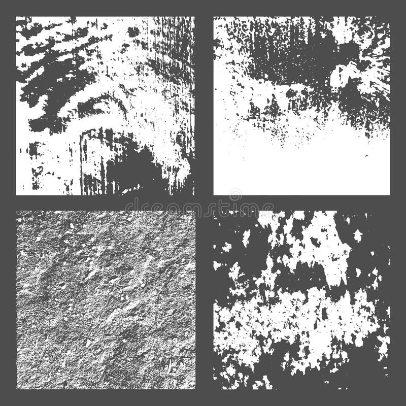 Grunge Black and White Distress Texture. Set Grunge Black and White Distress Texture. Wall Background. Vector Illustration. Simply Place illustration over any royalty free illustration