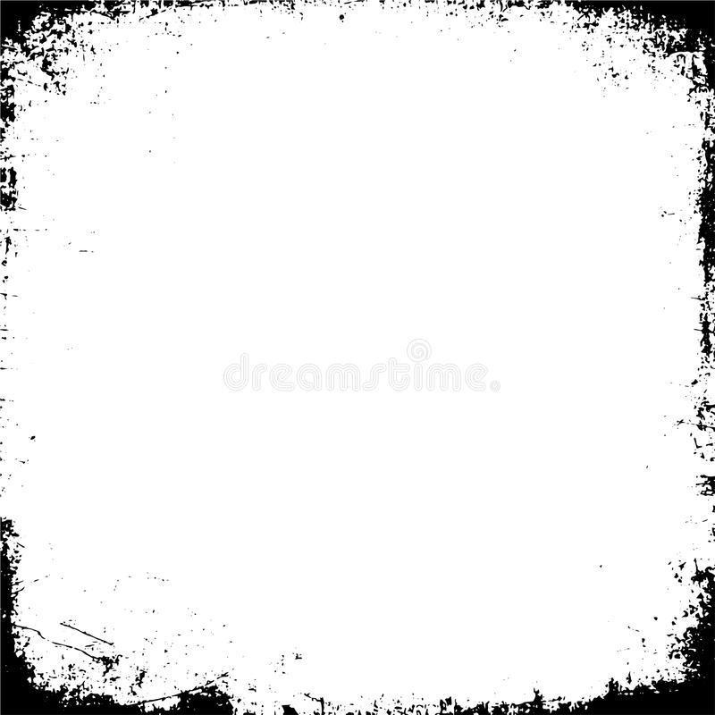 Grunge Black And White Urban Vector Texture Template. stock illustration