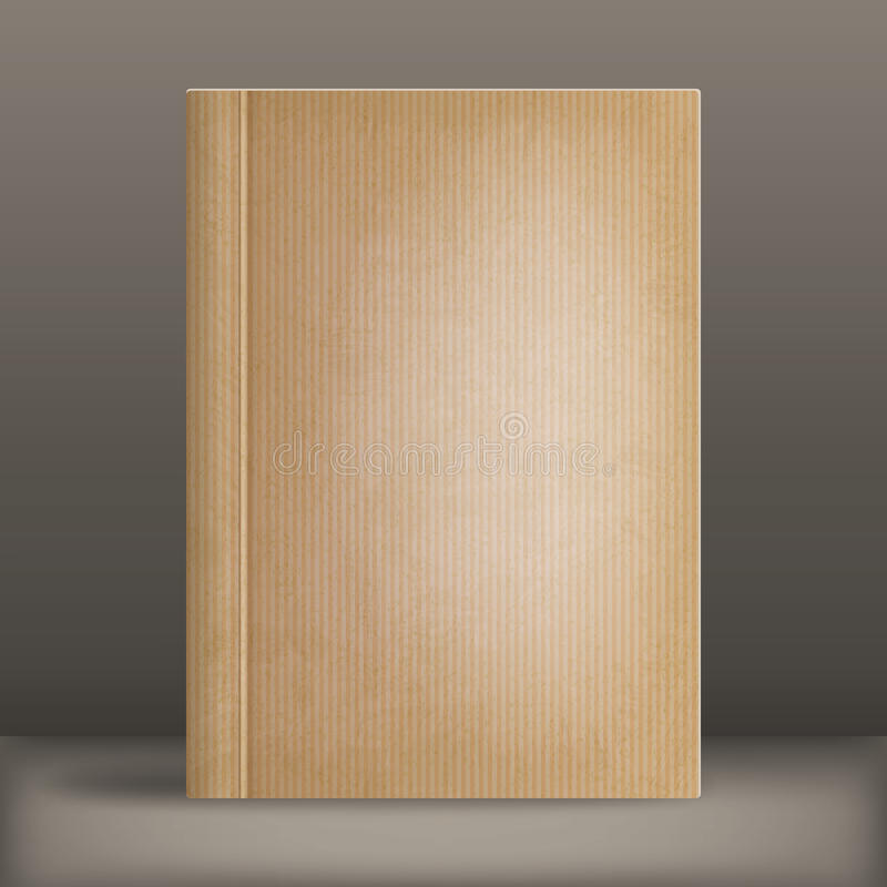 Grunge blank book cover vector illustration