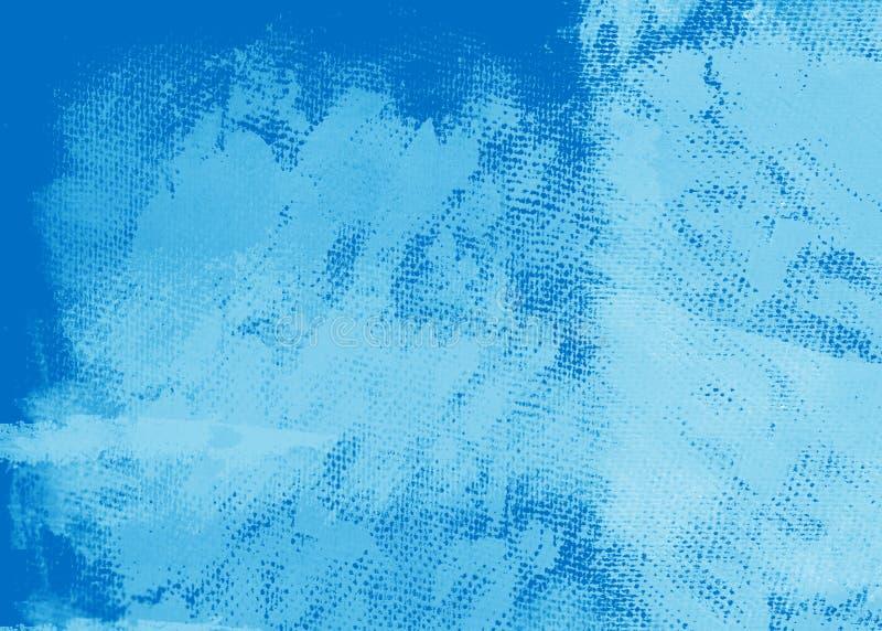 Grunge blaues gemaltes Segeltuch vektor abbildung
