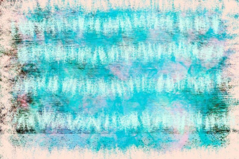 Grunge blauw en bruin kader en grens abstracte achtergrond royalty-vrije illustratie