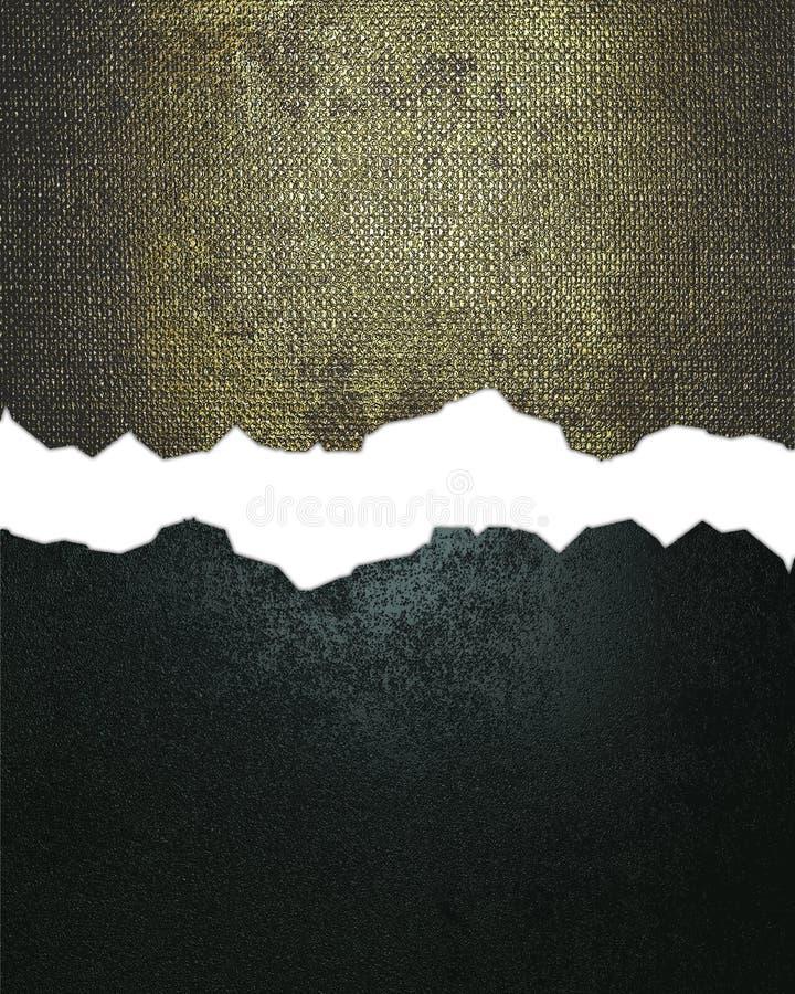 Grunge blauwe en gouden metaaltextuur met barst Element voor ontwerp Malplaatje voor ontwerp exemplaarruimte voor advertentiebroc stock afbeelding