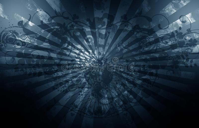 Grunge bleu-foncé illustration stock
