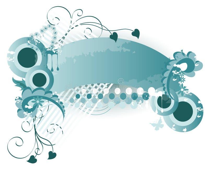 Grunge bleue/rétro fond illustration libre de droits