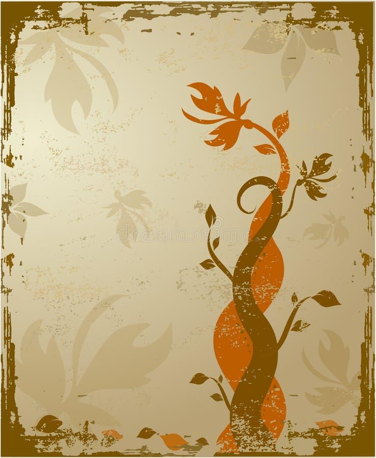 Grunge bloemen stock illustratie