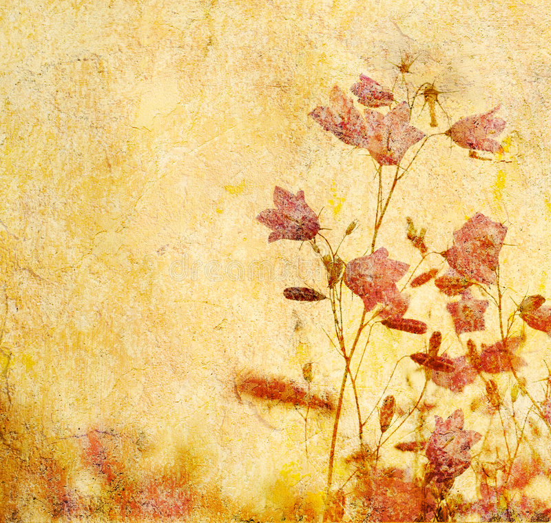 Grunge blom- bakgrund vektor illustrationer