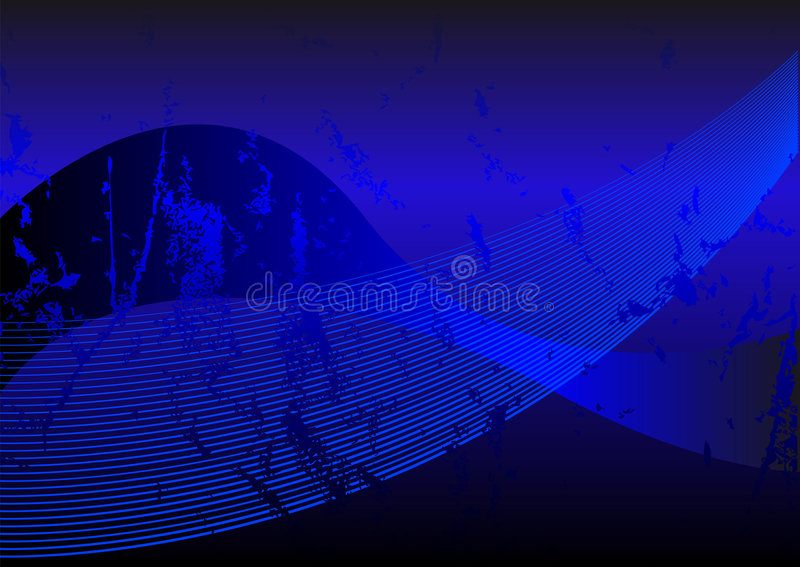 Grunge blu illustrazione vettoriale
