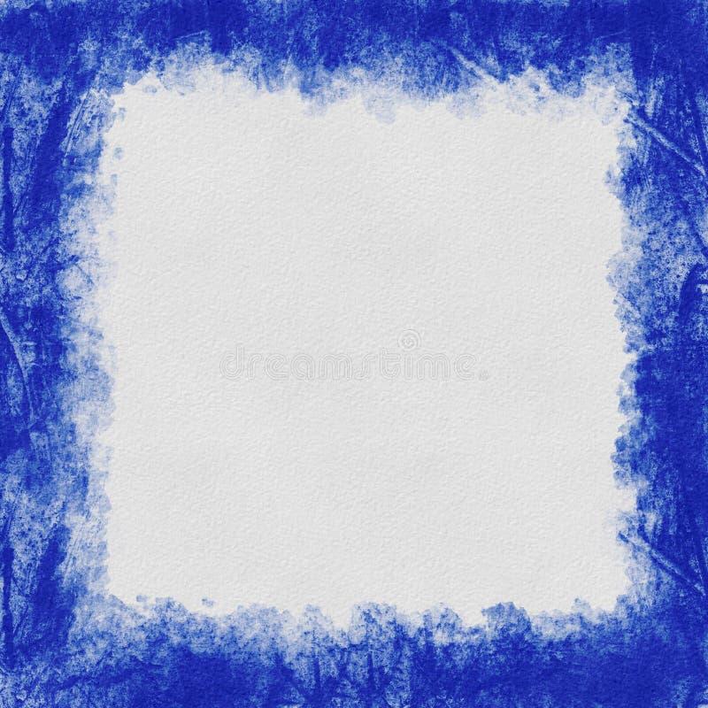 Grunge Blue abstract frame met getextureerde achtergrond royalty-vrije stock foto