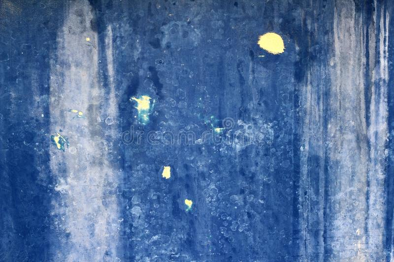 Grunge blue aged wall texture background stock images