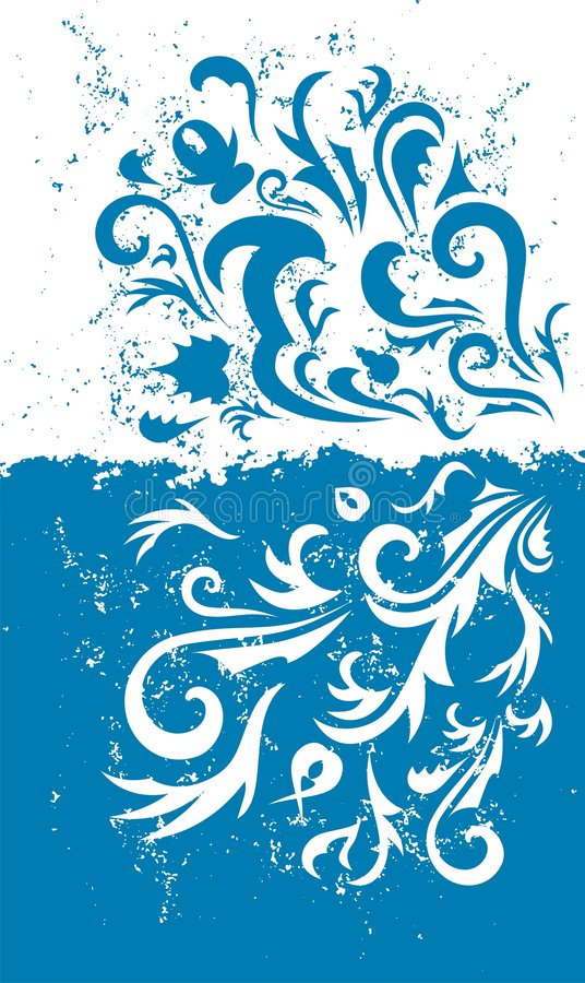 Grunge blue background. Grunge paper background with scratches and designs royalty free illustration