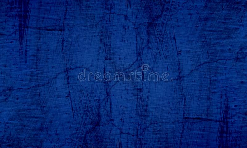 Grunge blue and black wall texture of concrete floor background for creation abstract. royalty free stock image