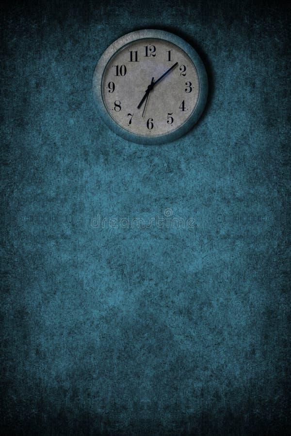 Grunge Blue Clock Stock Image