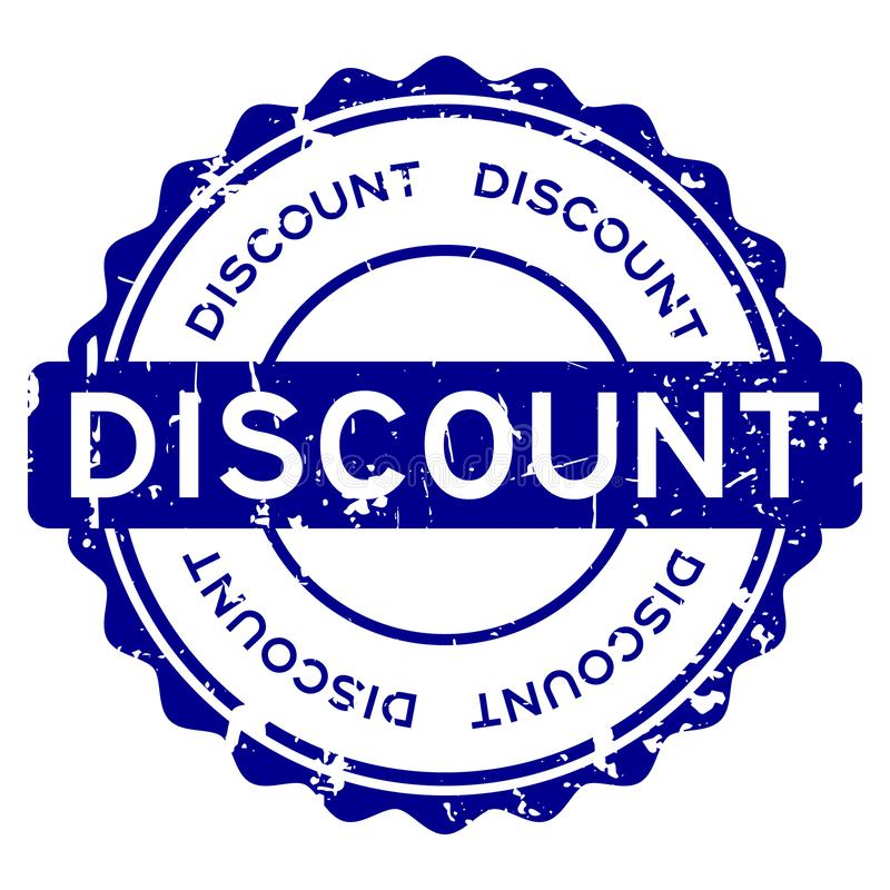 Grunge blue discount word round rubber seal stamp on white background royalty free illustration