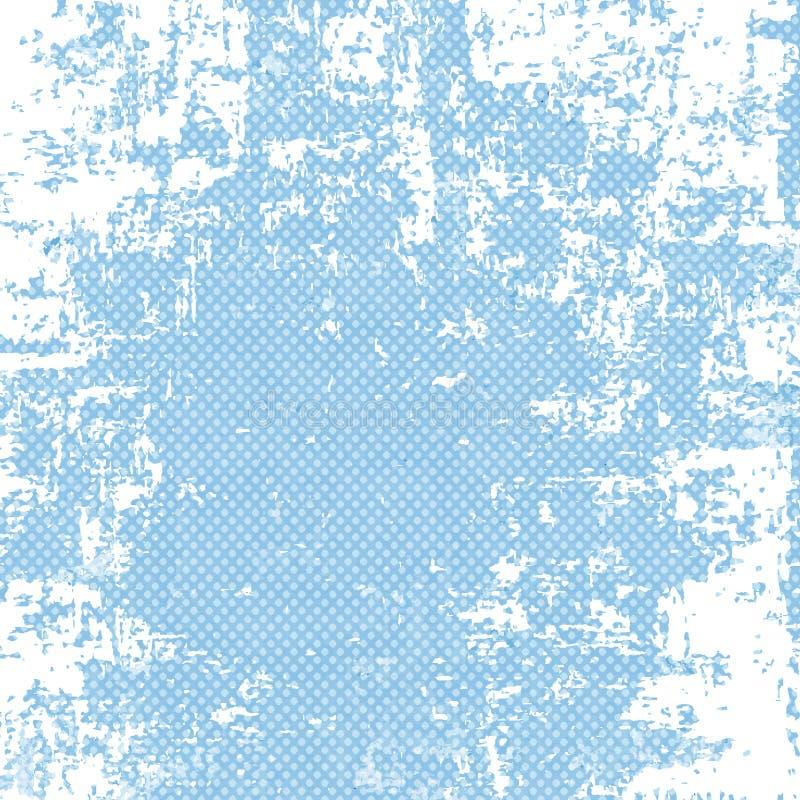 Grunge blue halftone background vector illustration