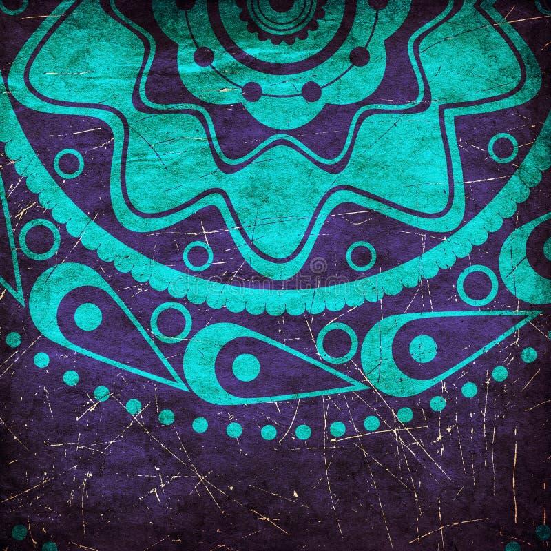 Grunge blue ornament vector illustration