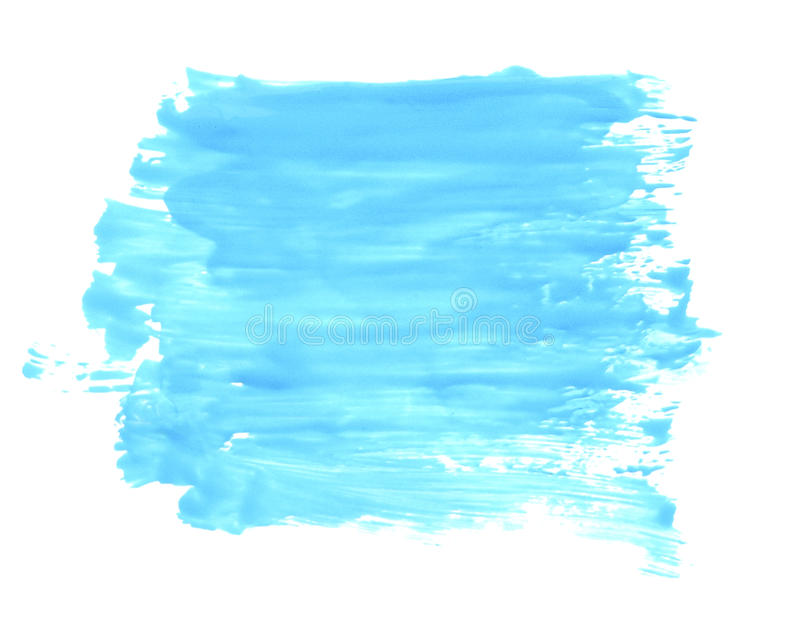 Grunge blue paint square for your design. Abstract bright oil painted background royalty free stock photo