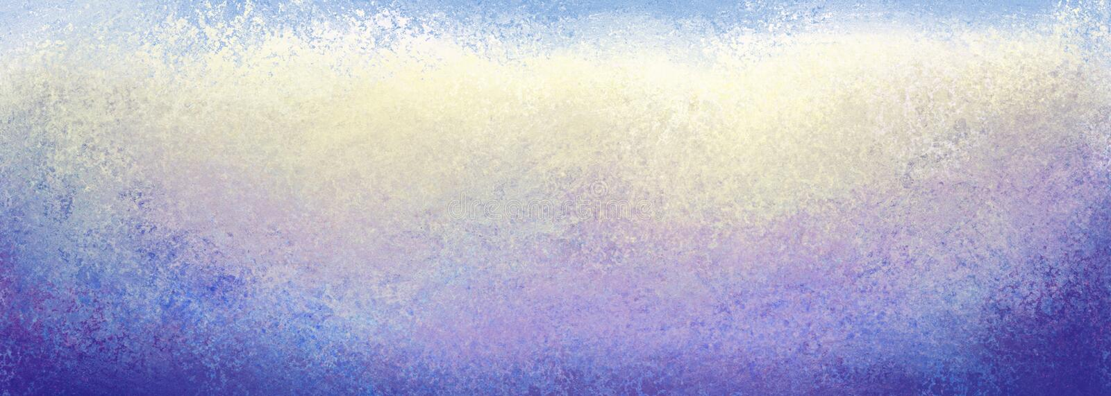Grunge blue yellow white purple and blue background with lots of texture, dark borders and light center stock photos