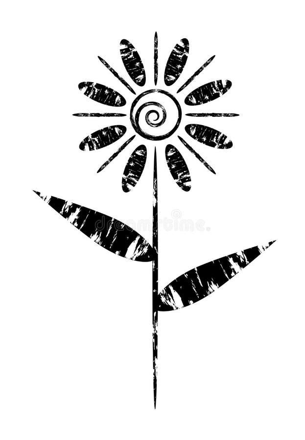 Grunge Blume stock abbildung