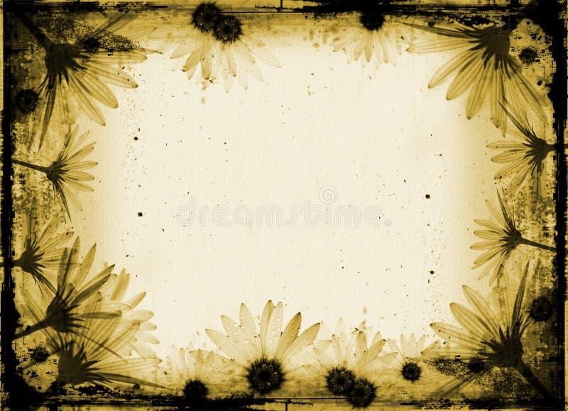 Grunge Blumen lizenzfreie abbildung