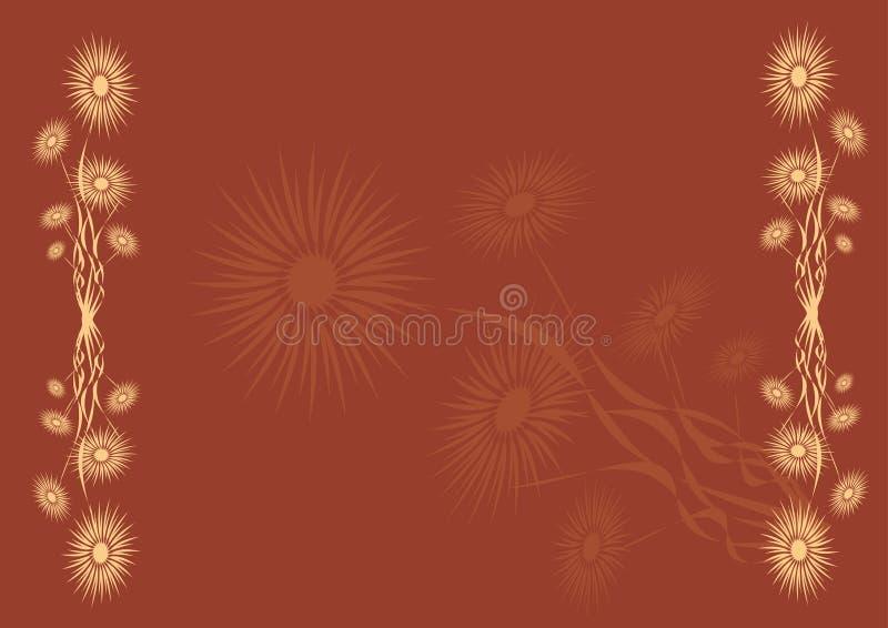 Download Grunge Blumen vektor abbildung. Illustration von anstrich - 851136