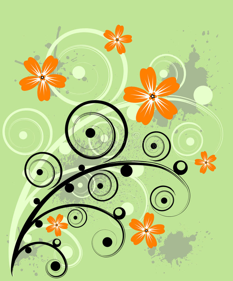 Grunge Blumenauslegung stock abbildung