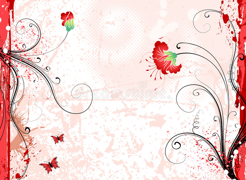 Grunge Blumenhintergrund stock abbildung