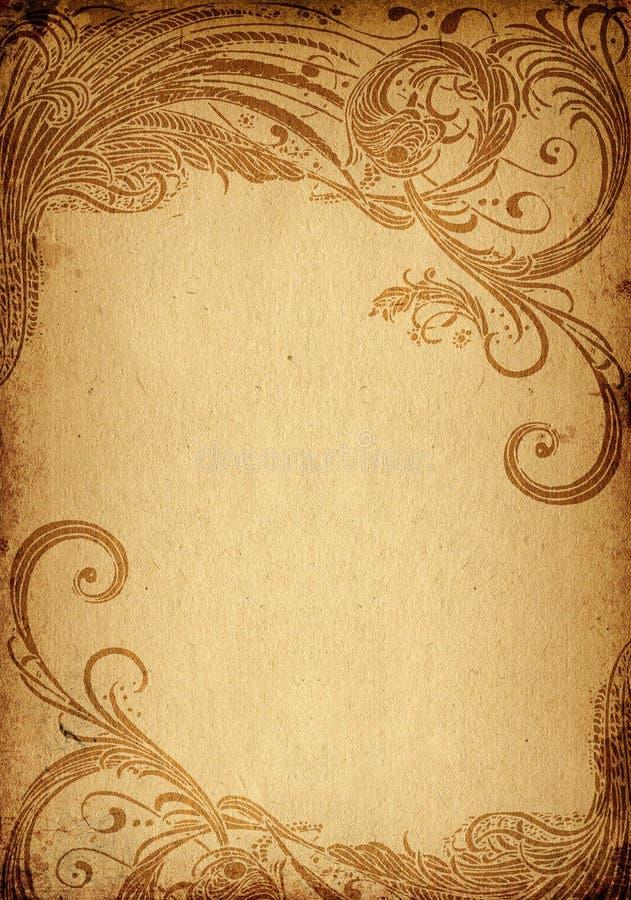 grunge Blumenhintergrund vektor abbildung