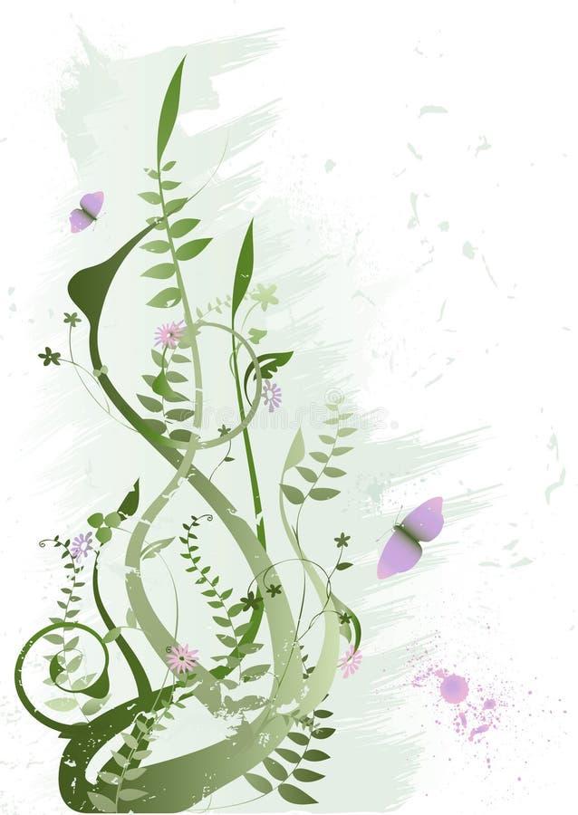 Grunge Blumenvektor vektor abbildung