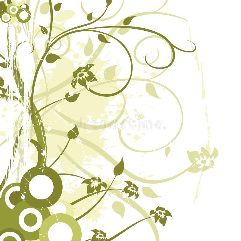 Grunge Blumenverzierung stock abbildung