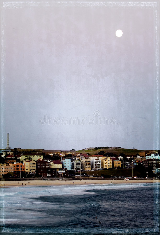 grunge bondi пляжа стоковое фото