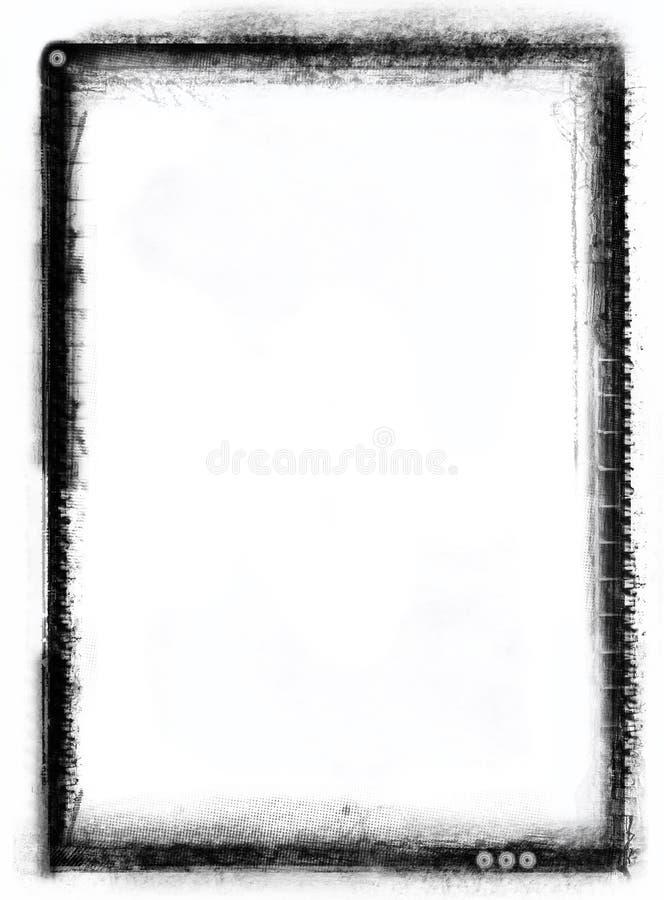 Grunge border stock illustration