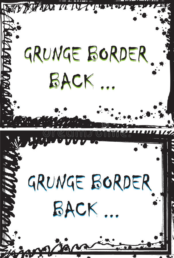 Download Grunge Border stock vector. Image of liquid, drop, dirty - 19511376