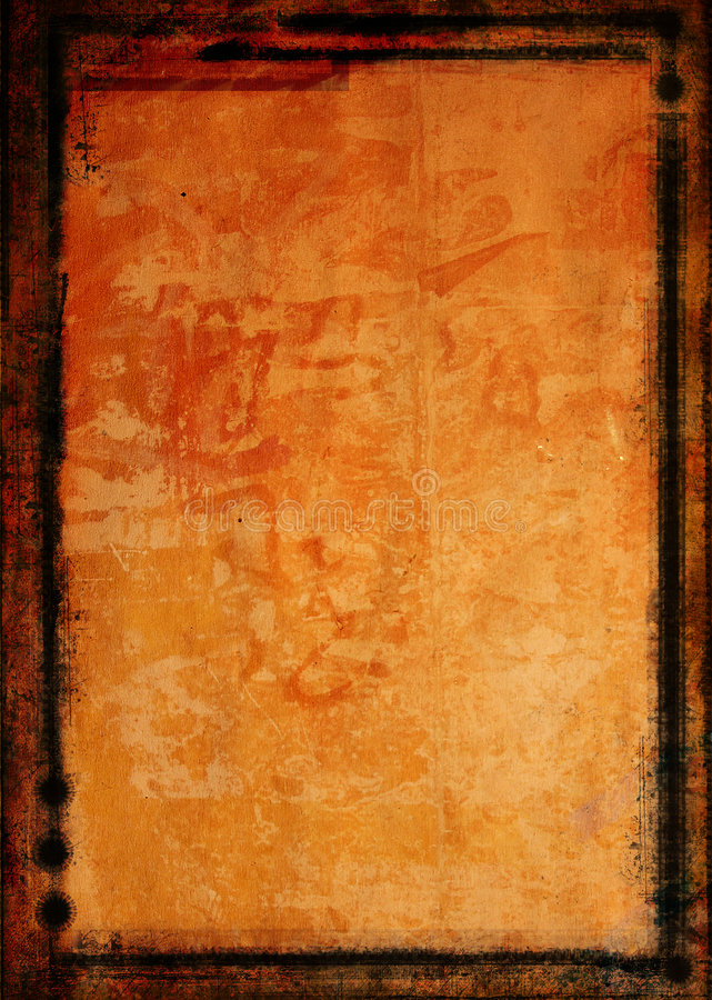 Grunge border and background stock illustration