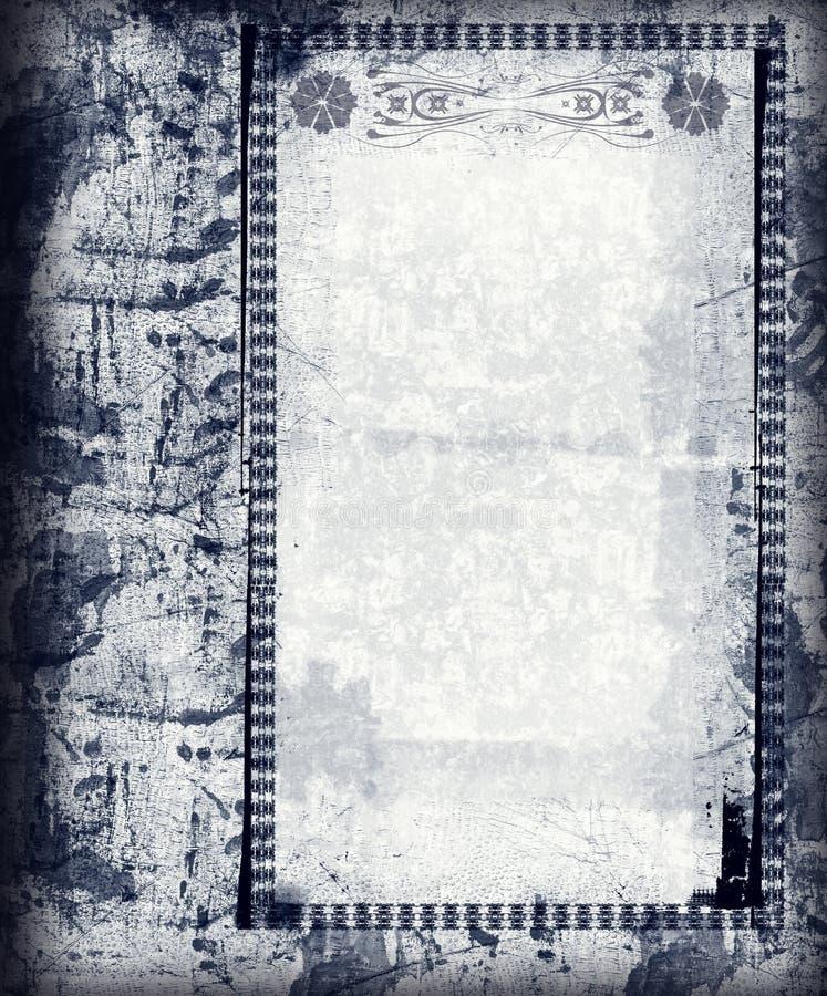 Grunge border and background vector illustration