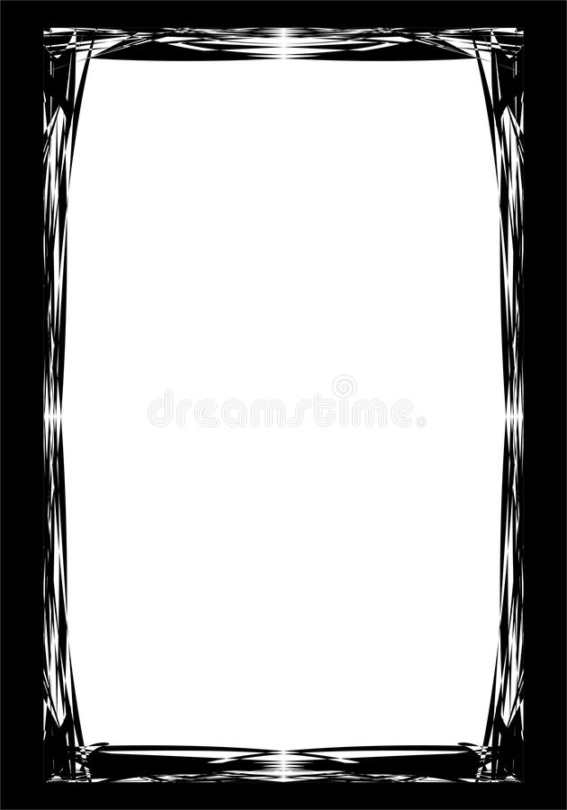 Grunge border or frame. grunge photo edge. stock illustration