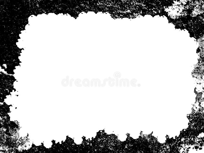 Grunge border or frame. grunge photo edge. Digitally created detailed grunge border. easy to use as a mask to frame your photographs, portfolio etc royalty free stock images