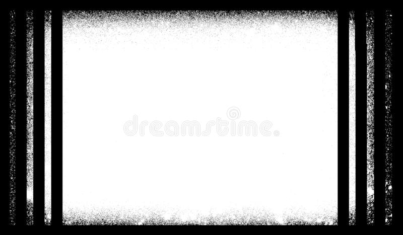 Grunge border or frame. grunge photo edge. stock illustration