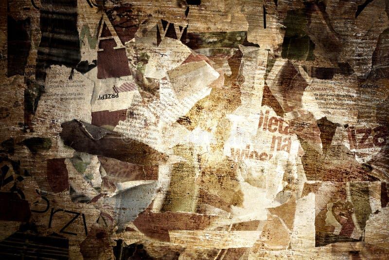 Grunge border torn paper background stock image