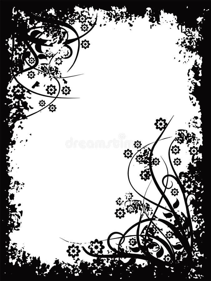 Grunge border, vector stock illustration