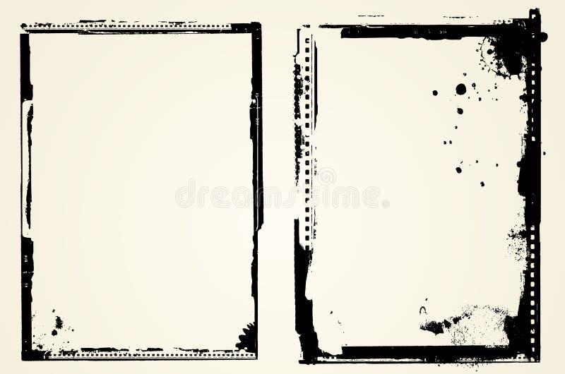 Grunge borders stock illustration