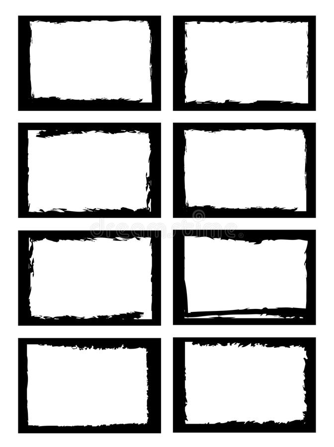 Grunge borders stock image