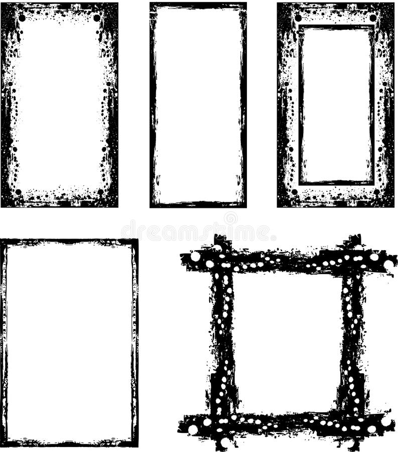 Download Grunge borders set stock vector. Image of various, frame - 23839548