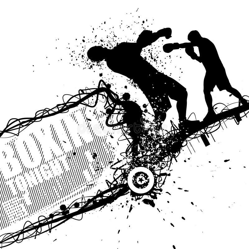 Grunge boxing vector stock illustration
